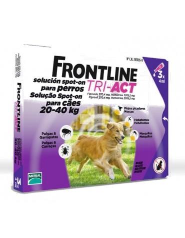 FRONTLINE TRI-ACT 20-40 KG, 3 PIPETAS