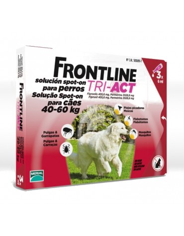 FRONTLINE TRI-ACT 40-60 KG, 3 PIPETAS