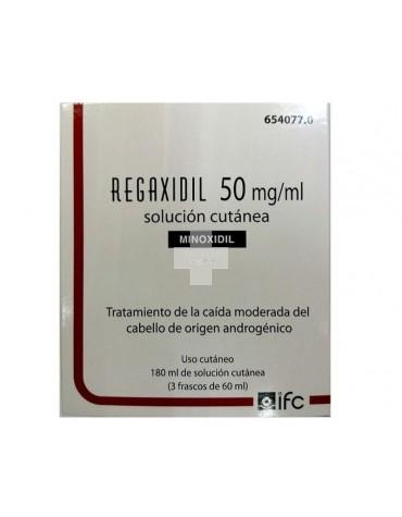 REGAXIDIL 5% SOLUCION CUTANEA 180 ML (3X60ML)
