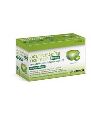 ACETILCISTEINA NORMON 200 mg GRANULADO PARA SOLUCION ORAL EFG