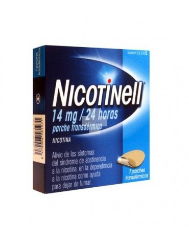 NICOTINELL 14 mg/24 HORAS 7 PARCHE TRANSDERMICO