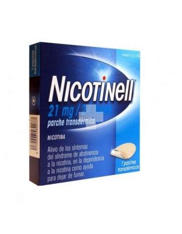 NICOTINELL 21 mg/24 HORAS 7 PARCHES TRANSDERMICO