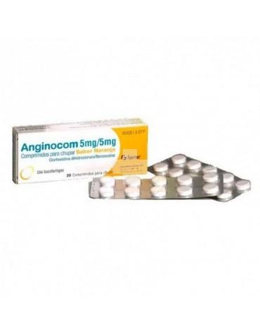 ANGINOCOM 5 mg/ 5 mg COMPRIMIDOS PARA CHUPAR SABOR NARANJA