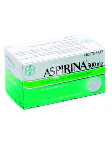 ASPIRINA 500 MG 20 COMP EFERVE