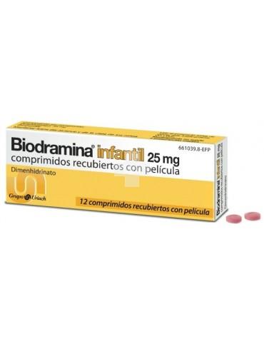 BIODRAMINA 25 MG 12 COMPRIMIDOS INFANTILES