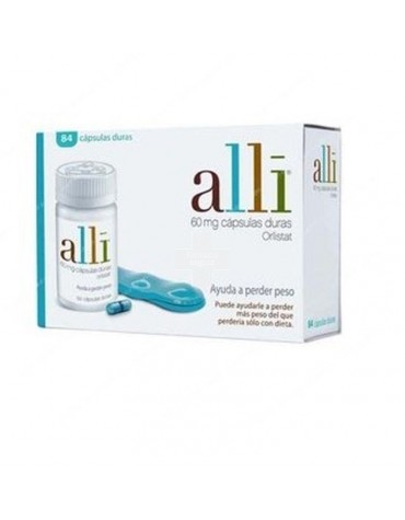 Pastillas Alli 60 mg 84 cápsulas duras con Orlistat.