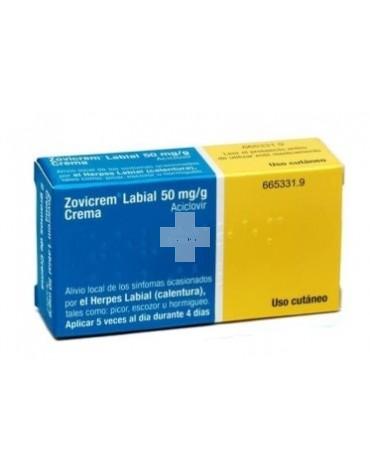 Zovicrem Labial 5% crema 2 g, para el herpes labial