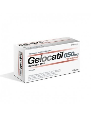 GELOCATIL 650 MG SOL ORAL 12S