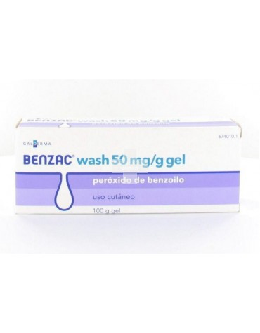 Benzac wash 50 mg/g gel 100 g