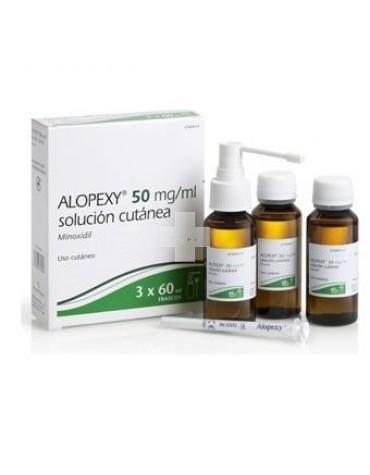 Alopexy 50 mg/ml solución cutánea 3X60 ml, para la calvicie