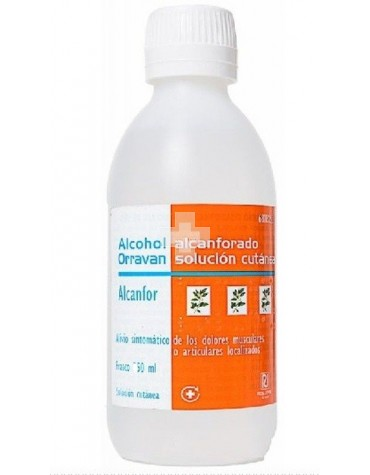 Alcohol Alcanforado Orravan 500 ml