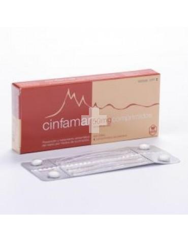 CINFAMAR 50 mg 4 COMPRIMIDOS RECUBIERTOS