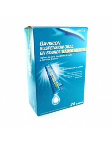 GAVISCON SUSPENSION ORAL 24 SOBRES SABOR MENTA