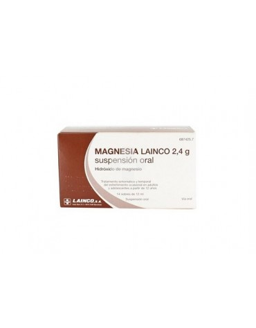 MAGNESIA LAINCO 2,4 g SUSPENSION ORAL, 14 sobres de 12 ml