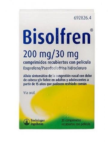 Bisolfren 200 mg/30 mg comprimidos recubiertos con película