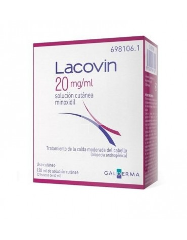 LACOVIN (20 MG/ML SOLUCION CUTANEA 2 FRASCOS 60 ML)