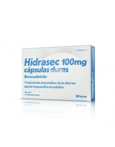 HIDRASEC 100 MG 10 CAPS