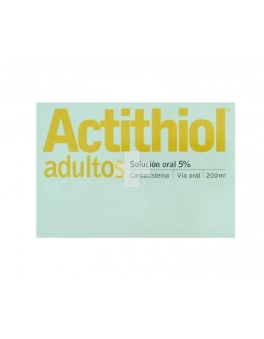 ACTITHIOL ADULTOS 50 MG/ML SOLUCION 200 ML