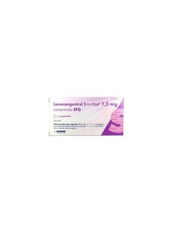 LEVONORGESTREL SANDOZ 1,5 MG COMPRIMIDO EFG , 1 comprimido