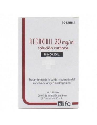 REGAXIDIL 20 mg/ml SOLUCION CUTANEA 2 FRASCOS 60 ML