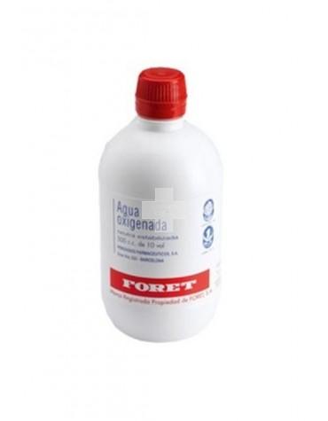 AGUA OXIGENADA FORET 3 % solución cutánea y concentrado para solución bucal, 1 frasco de 500 ml