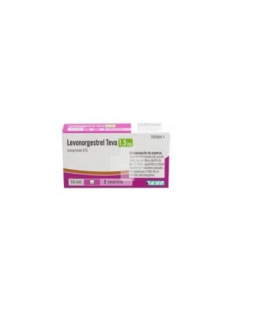 LEVONORGESTREL TEVA 1,5 MG COMPRIMIDO EFG ,1 comprimido