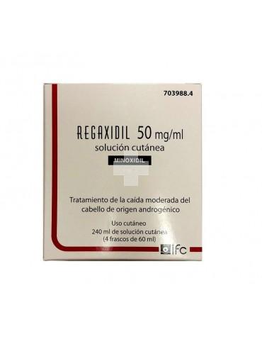 REGAXIDIL 50 MG/ML SOLUCION CUTANEA 4 FRASCOS 60