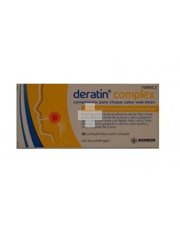 Deratin Complex 30 comprimidos para chupar miel-limón
