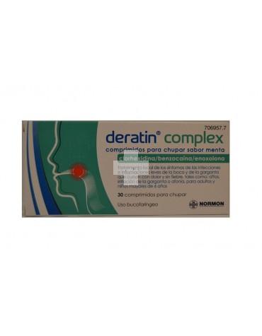 Deratin Complex 30 comprimidos para chupar sabor menta