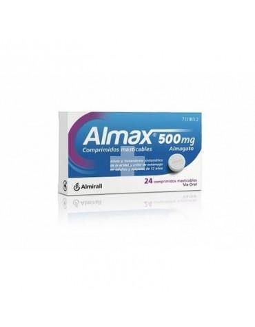 ALMAX 500 MG 24 COMP MASTICABL
