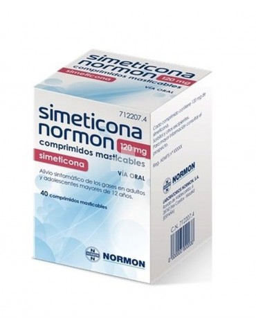 Simeticona Normon 120 mg 40 comp