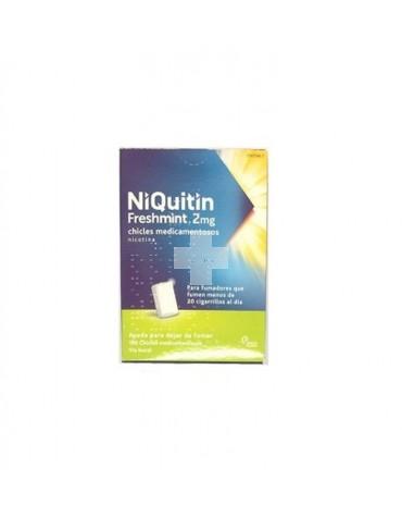 NIQUITIN FRESHMINT 2 MG CHICLES MEDICAMENTOSOS 100 chicles (blister AL/PVC/PVDC )
