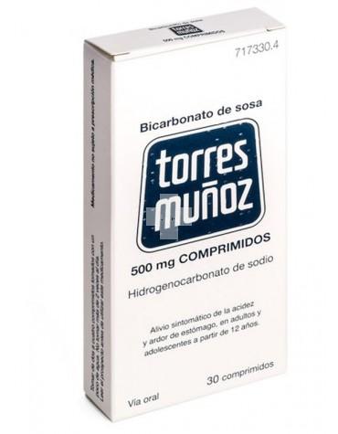 Bicarbonato de Sosa Torres Muñoz 500 mg 30 comprimidos
