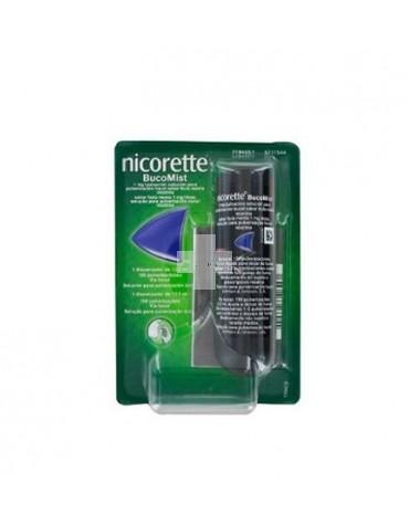 NICORETTE BUCOMIST 1 MG/PULSACION SOLUCION PARA PULVERIZACION BUCAL SABOR FRUTA MENTA, 1 dispensador de 13,2 ml (150 pulverizaciones)