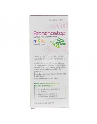 BRONCHOSTOP ANTITUSIVO Y EXPECTORANTE NIÑOS SOLUCION ORAL 200 ML