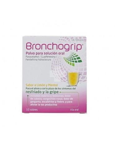 BRONCHOGRIP POLVO PARA SOLUCION ORAL, 10 sobres