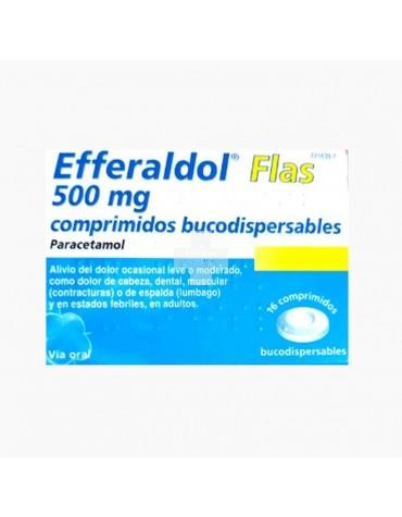 EFFERALDOL FLAS (500 MG 16 COMPRIMIDOS BUCODISPERSABLES )