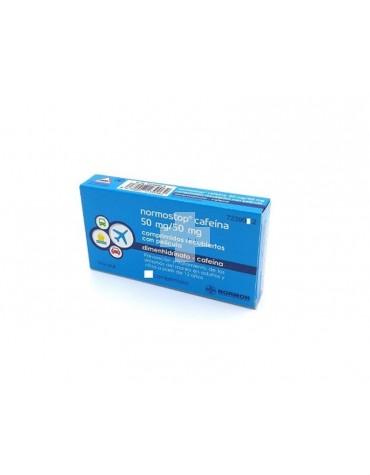 NORMOSTOP CAFEINA 50 MG/50 MG COMPRIMIDOS RECUBIERTOS CON PELICULA, 4 comprimidos (Blister Al/PA-Al-PVC)