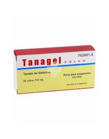 TANAGEL 250 mg POLVO PARA SUSPENSION ORAL
