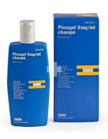 Piroxgel 6 mg/ml champú 200 ml