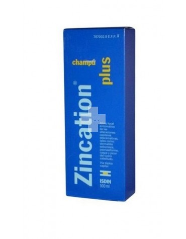 Zincation Plus 10 mg/4 mg/ml champú 500 ml