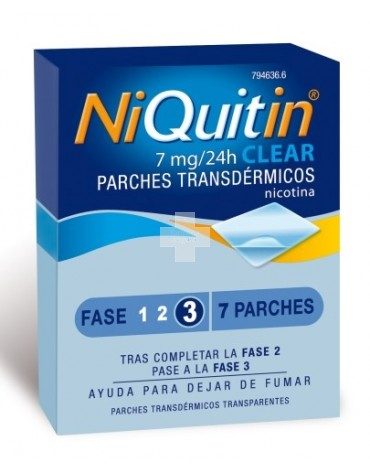 Niquitin Clear 7 mg 7 parches