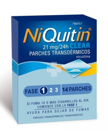Niquitin Clear 21 mg 14 parches