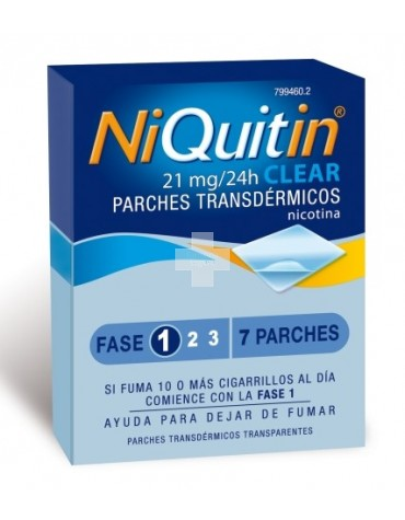 "Niquitin Clear ""21""  114 mg 7 parches"