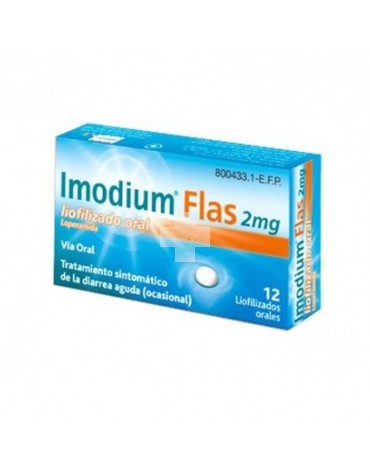 IMODIUM FLAS 2 mg liofilizado oral 12 comp