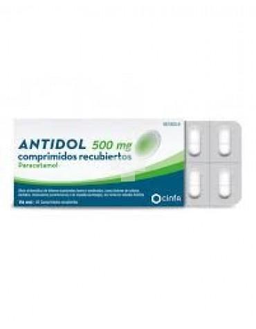 Antidol 500 mg comprimidos recubiertos