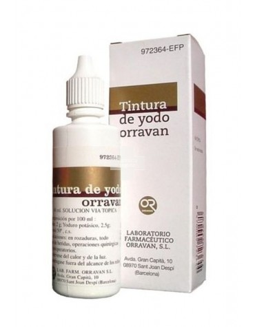 TINTURA YODO ORRAVAN 25 CC
