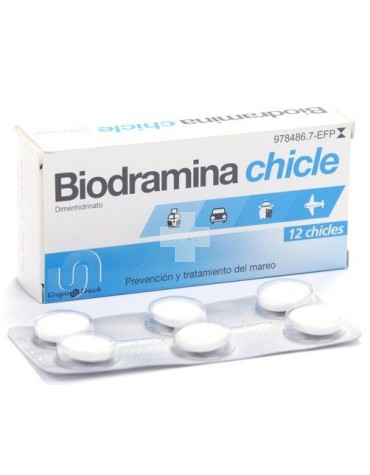BIODRAMINA 12 CHICLES