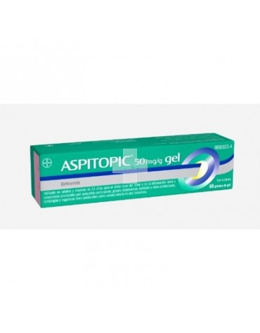 ASPITOPIC 50 mg/g GEL 60 G