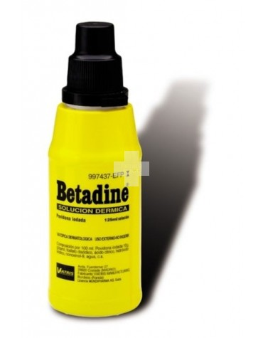 BETADINE SOLUC DERMICA 125 ML